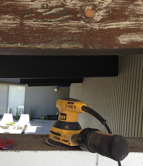 front-beam-sanding