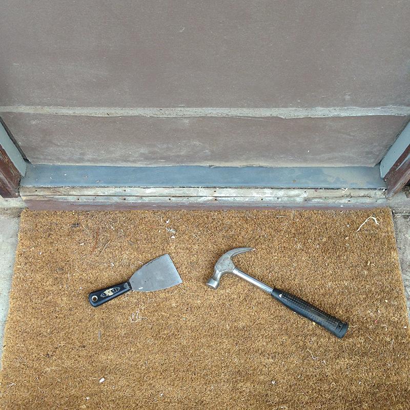 brown-back-battered-door