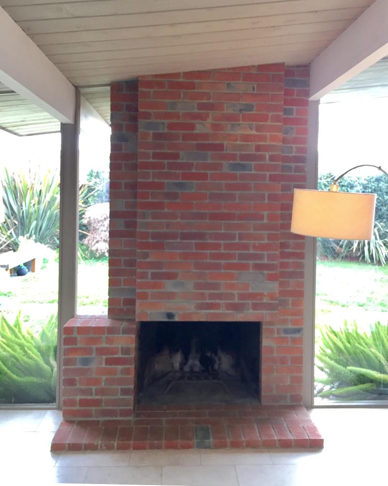 eichler fireplace restoration fogmodern