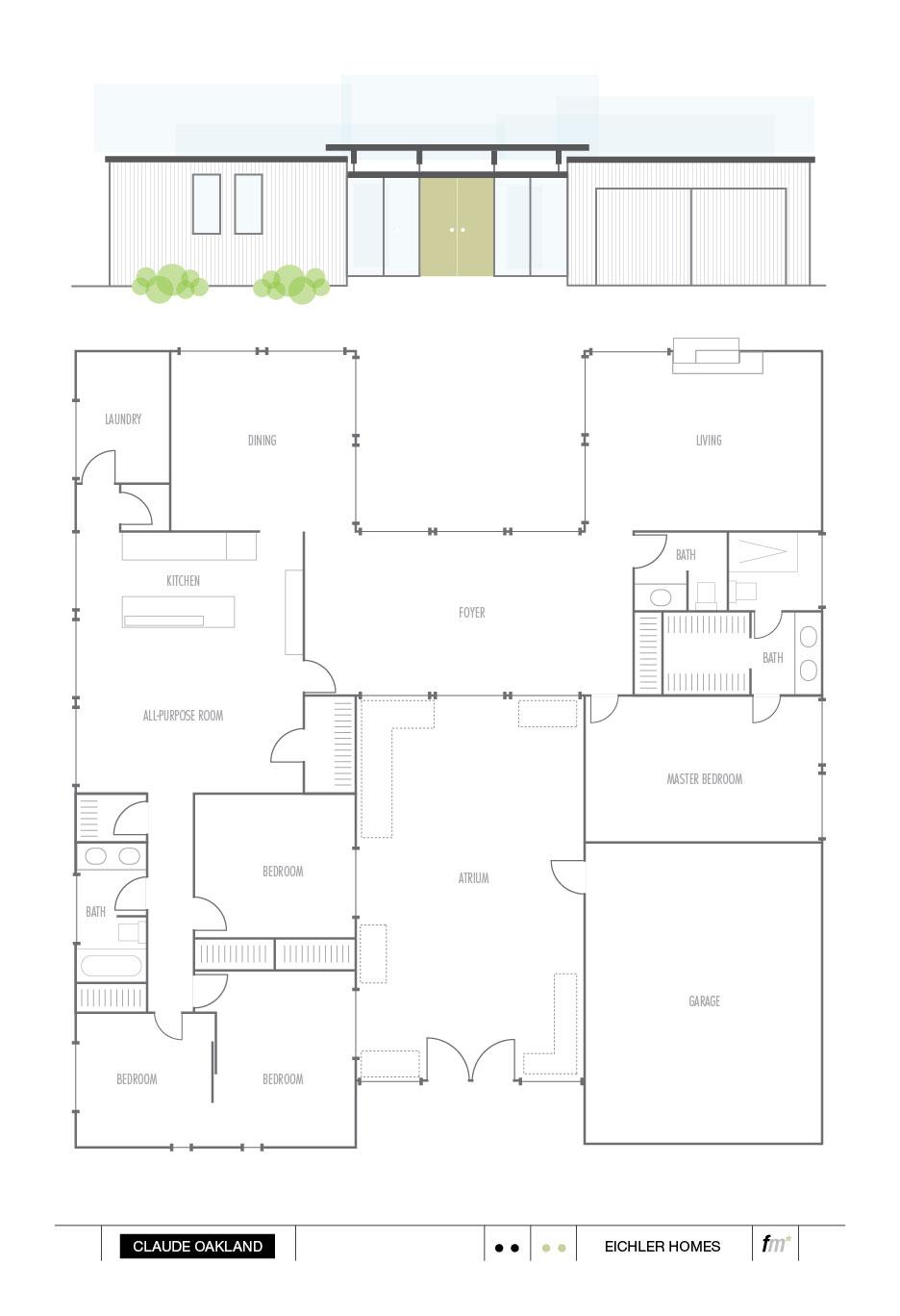 walnut creek – Eichler Homes Floor Plans